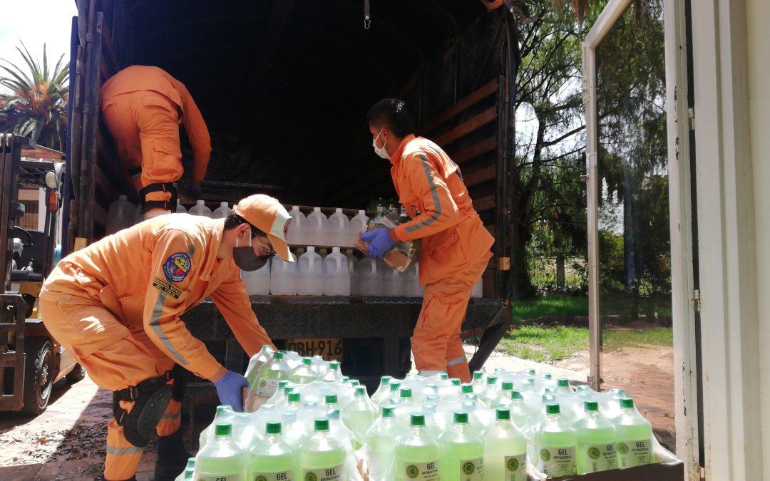 NLB dona alcohol antiséptico, gel antibacterial y tapabocas al INPEC